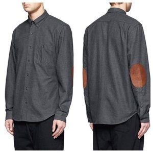 J.Crew Flannel Elbow Patch Button Down Shirt